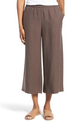 Women's Eileen Fisher Tencel & Linen Crop Wide Leg Pants $178 thestylecure.com