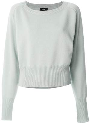 Theory ribbed waist jumper