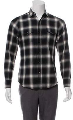 Saint Laurent Western Shadow Plaid Shirt black Western Shadow Plaid Shirt