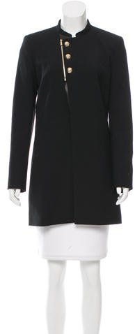 Barbara Bui Barbara Bui Leather-Trimmed Short Coat