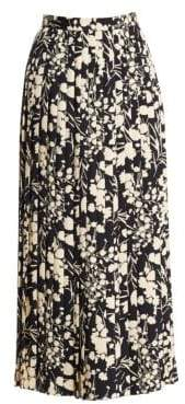 The Row Lawrence Silk Floral Skirt