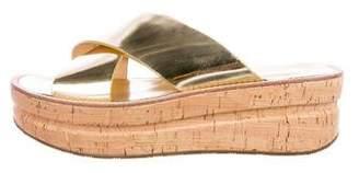 Belle by Sigerson Morrison Leather Slide Sandals