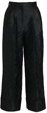 Dolce & Gabbana Women's Jacquard Wide-Leg Cuffed Pants