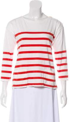 Chinti and Parker Long Sleeve Bateau Neck Top
