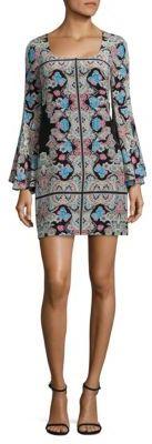 Nanette Lepore Stargazer Bell Sleeve Shift Dress $498 thestylecure.com
