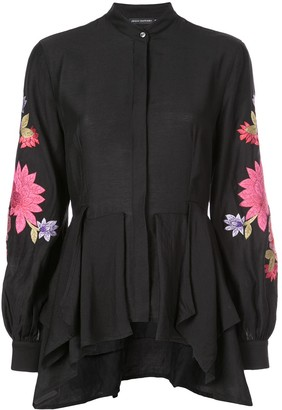 Josie Natori embroidered tunic top