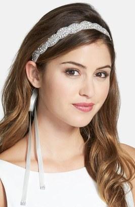 Nina Crystal Satin Head Wrap $58 thestylecure.com