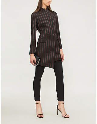 Pinko Moris striped wool-twill jacket