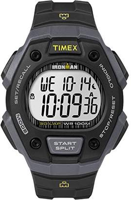 Timex Men's TW5M09500 Ironman Classic 30 Black/Gray Resin Strap Watch