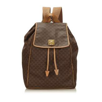 Celine Vintage Ring Brown Plastic Backpacks