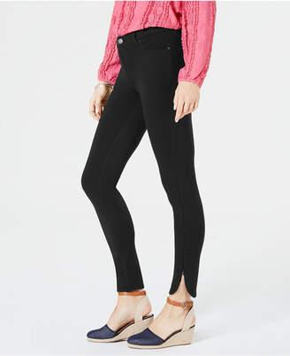 Style&Co. Style & Co Petite Ponte-Knit Split-Hem Pants