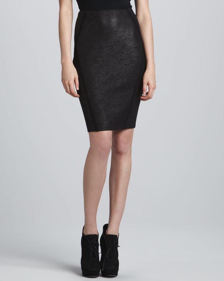 Donna Karan Seamed Pencil Skirt, Black