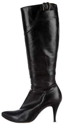 CNC Costume National Pointed-Toe Knee-High Boots