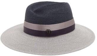 Maison Michel Virginie Straw Hat - Womens - Navy