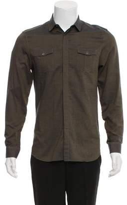 Burberry Striped Metallic Long Sleeve Shirt