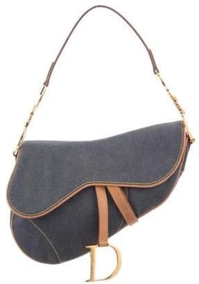 Christian Dior Denim Saddle Bag