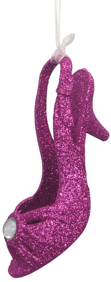 St Nicholas square ® glitter shoe christmas ornament