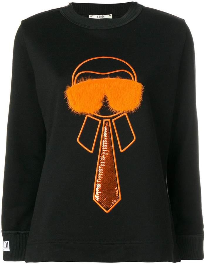 Fendi Karlito-embroidered sweatshirt