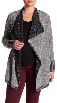 Susina Draped Open Cardigan (Plus Size)