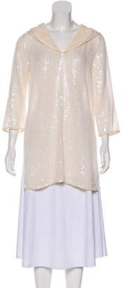 Calypso Hooded Sequined Tunic Hooded Sequined Tunic