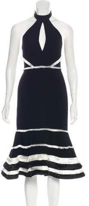 Alexis Fringe-Accented Midi Dress