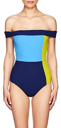 Flagpole Swim Women's Gia Colorblocked Off-The-Shoulder One-Piece Swimsuit