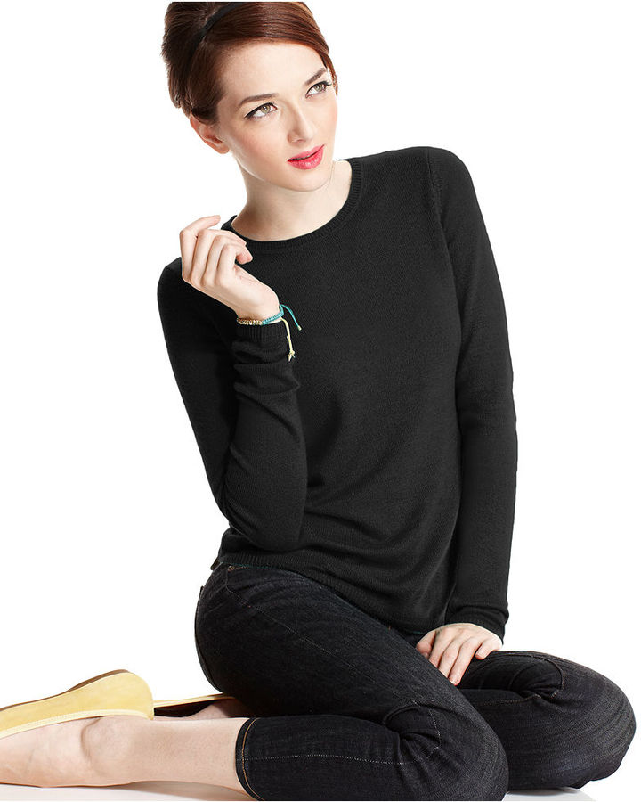 Charter Club Sweater, Long-Sleeve Cashmere Crew-Neck