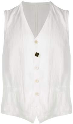 Lardini v-neck buttoned waistcoat
