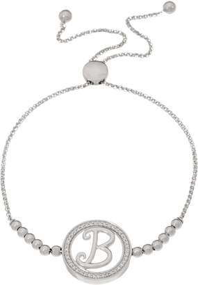 Affinity Diamond Jewelry Diamond Initial Bracelet, 1/5 cttw, Sterling, by Affinity