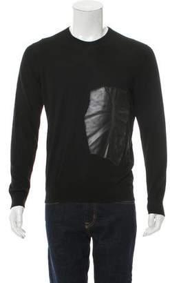 Loewe Vegan Leather-Trimmed Wool Sweater