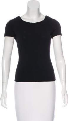 Armani Collezioni Scoop Neck Short Sleeve Top