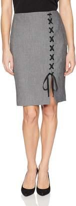 Nine West Women's Melange Midi Skirt with Detailing