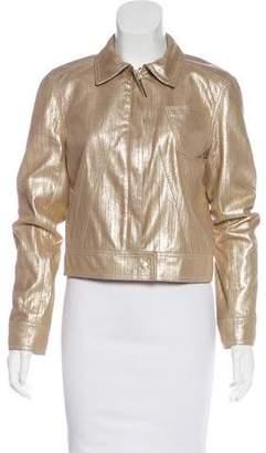 Christian Dior Metallic Leather Jacket