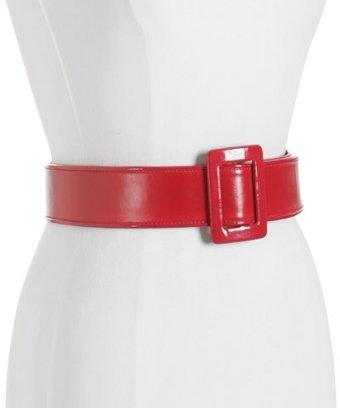 MICHAEL Michael Kors red leather reversible wide belt