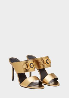 Versace Icon Metallic Leather Sandals