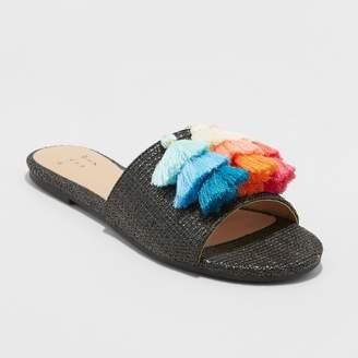 DAY Birger et Mikkelsen A New Women's Ayana Raffia Tassle Slide Sandals