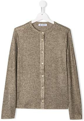Dondup Kids TEEN ribbed fitted cardigan