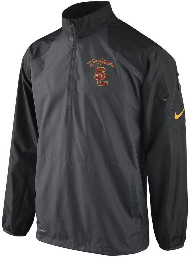Nike usc trojans lockdown 1/2-zip performance jacket - men