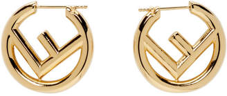 Fendi Gold Small F is Earrings