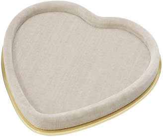 AERIN Valentina Velvet Heart Tray