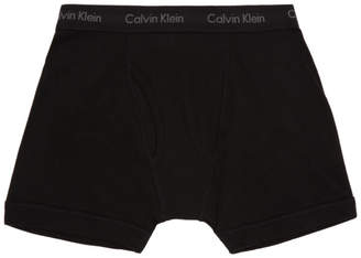 Calvin Klein Underwear Three-Pack Black Classic Fit Boxer Briefs