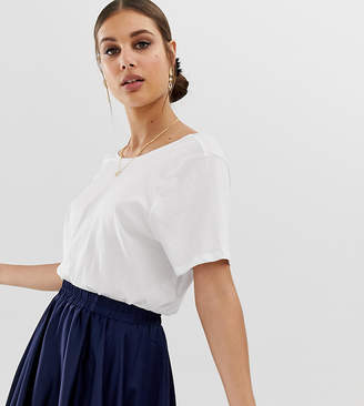 NA-KD Na Kd open back t-shirt in white