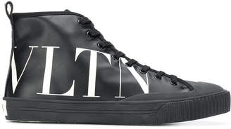 Valentino High-top Sneaker With Vltn Logo