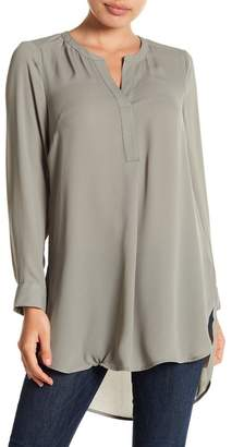 Daniel Rainn DR2 by Box Pleat Hi-Lo Blouse (Petite)