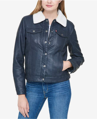 Levi's Faux-Leather Trucker Jacket