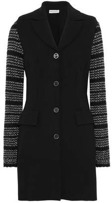 Sonia Rykiel Two-Tone Knitted-Paneled Ponte Jacket
