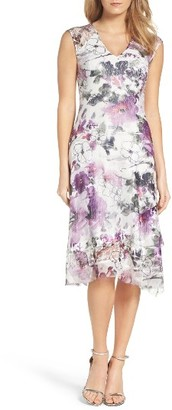 Women's Komarov Floral Lace & Chiffon A-Line Dress $298 thestylecure.com
