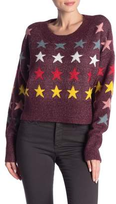 Wildfox Couture Star Long Sleeve Sweater