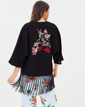 710fb513a Embroidered Kimono - ShopStyle Australia