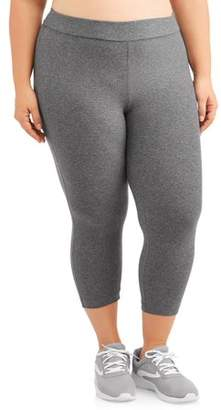 Terra & Sky Women's Plus Size Super Soft Capri Legging